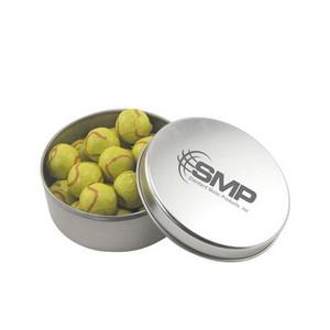 Round Tin with Chocolate Tennis Balls
