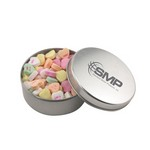Round Tin with Conversation Hearts