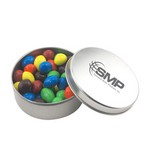 Round Tin with Peanut M&M's