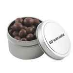 Round Tin with Chocolate Peanuts