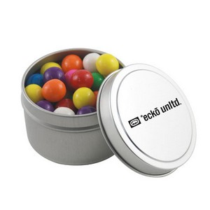Round Tin with Gumballs