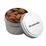 Round Tin with Almonds