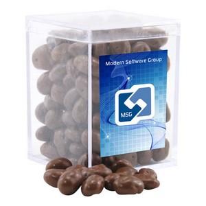 Acrylic Box with Chocolate Covered Raisins