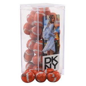 Acrylic Box with Chocolate Footballs