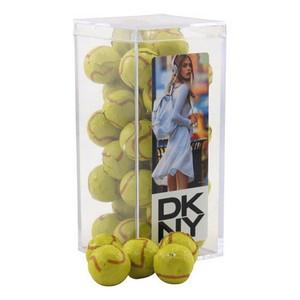 Acrylic Box with Chocolate Tennis Balls