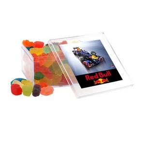 Acrylic Box with Gummy Bears