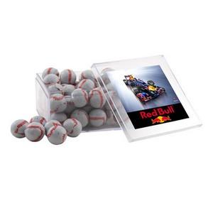 Acrylic Box with Chocolate Baseballs