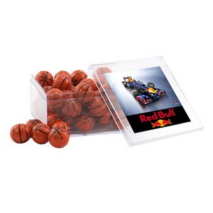 Acrylic Box with Chocolate Basketballs