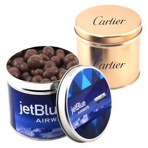 Round Tin with Chocolate Covered Peanuts