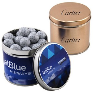 Round Tin with Chocolate Golf Balls