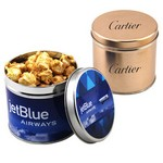 Round Tin with Caramel Popcorn