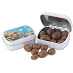 Mini Hinged Tin- Chocolate. Almonds
