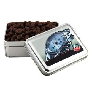 Tin with Chocolate Covered Raisins
