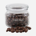 Jar with Chocolate Covered Raisins