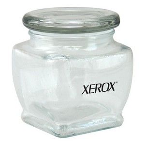 3 1/8 Footed Glass Jar Empty