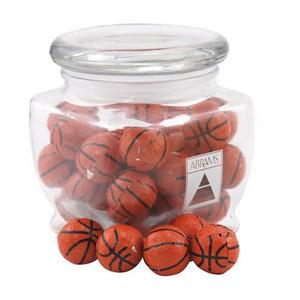 Jar with Chocolate Basketballs