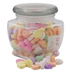 Jar with Conversation Hearts