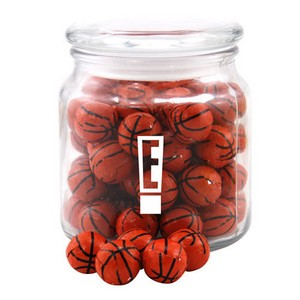 Jar with Chocolate Basketballs
