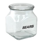 Square Glass Jar Empty