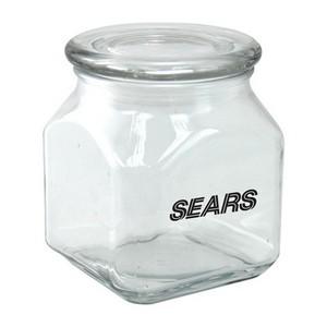 Square Glass Jar Empty