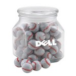 Jar with Chocolate Baseballs