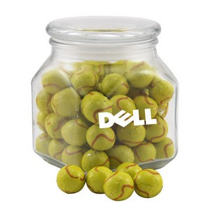 Jar with Chocolate Tennis Balls