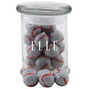 Jar with Chocolate Baseballs