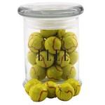 Jar with Chocolate Tennis Balls