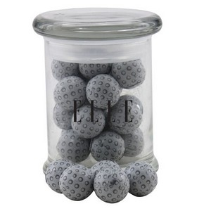 Jar with Chocolate Golf Balls