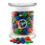 Jar with M&M's