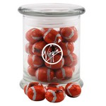 Jar with Chocolate Footballs