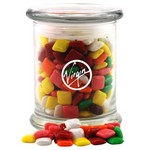 Jar with Mini Chicklets Gum