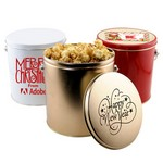 1 Gallon Gift Tin with Caramel Popcorn