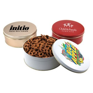 Gift Tin with Mini Pretzels