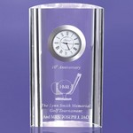 Ontario Crescent Shaped Award Embedded Clock