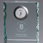 Oxford Rectangular Pearl Edged Clock Award