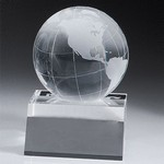Conway Globe On Flat Slanted Base