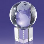 Mahaffey Globe on Glass Cube