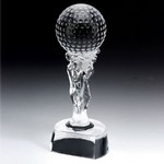 Douglas Golf Ball Mounted On Carved Stand