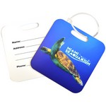 Square Metal Luggage Tag - Full Color