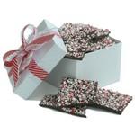 Dark Chocolate Peppermint Bark - White Gift Box 12 Oz.