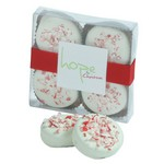White Chocolate Peppermint Oreo Cookies - 4 Piece Box