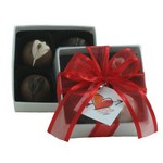 Rich Creamy Chocolate Truffles 4 Piece Box