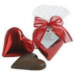 Solid Milk Chocolate Heart (Foil Wrapped) 2 oz.