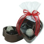 Edible Chocolate Heart Box with Truffles 6 oz.