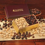 Choice Virginia Peanuts & Chocolate Covered Peanuts -Burgundy Box