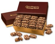 English Butter Toffee in Burgundy and Gold Gift Box