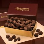 Cocoa Dusted Truffles in Burgundy and Gold Gift Box