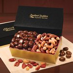 Chocolate Almonds & Deluxe Mixed Nuts in Black & Gold Gift Box