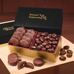 Pecan Turtles & Chocolate Almonds in Black & Gold Gift Box